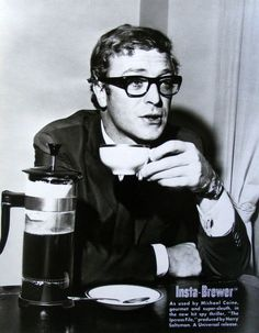 Coffee with Michael Caine, 1964.