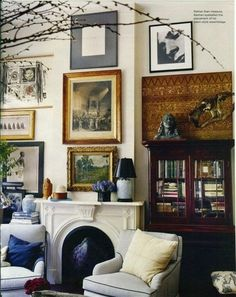 """my favorite kind of rooms...ones that look like they were """"collected"""" along the way."""