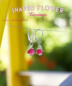 Shaped Shrink Plastic earrings - her 3-d jewelry is very nice! other examples on blog - inspiration only - this was a featured piece  ************************************************   JustSomethingIMade - #shrink #plastic #jewelry #flowers #3d #crafts - tå√