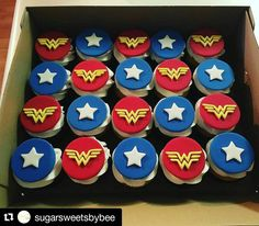 """285 Likes, 4 Comments - John (@jb_cookie_cutters) on Instagram: """"#Repost @sugarsweetsbybee with @repostapp ・・・ Wonder Woman cupcakes! WW cutter courtesy of…"""""""