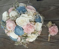 slate blush ivory bouquet;  not a big fan of the white/green stuff sticking out