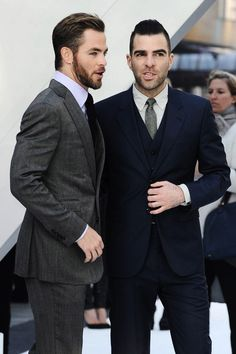 Chris Pine and Zachary Quinto