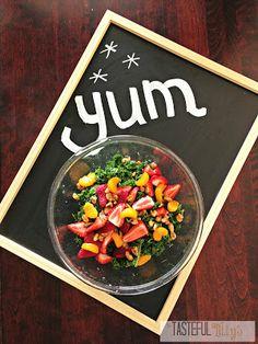 Tasteful Tillys: Kale Fruit Salad