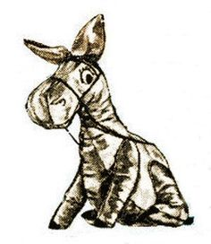 Donkey Floor Pillow Toy Vintage Sewing Pattern for download