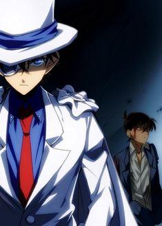 Kaito protecting Shinichi