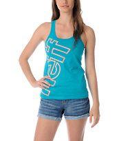 Neff Girls Solidarity Turquoise Tank Top