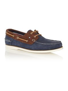 Tommy Hilfiger Leather Boat Shoes, Navy