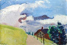 Henri Matisse (1869-1954) Paysage suisse (Route de Chézières à Villars)