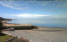 Nova Scotia Webcams - Halls Harbour 2,Bay of Fundy. May 22, 2014...quiet noon-time, low tide and calm waters
