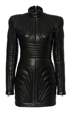 Victorian Coat, Balmain Dress, Steampunk Dress, Leder Outfits, Black Leather Dresses, Gothic Dress, Celebrity Dresses, Quilted Leather, High Fashion