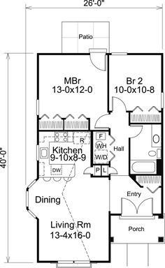 images about TINY HOUSE PLANS on Pinterest   Cottage House    Cottage House Plan chp  at COOLhouseplans com Plan ID  chp