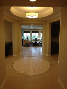 Beautiful entryway... Again, from a model home