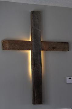 I've been waiting on this day for several months now...at our last church there was beautiful cross that was backlit in the baptistry. I wa...