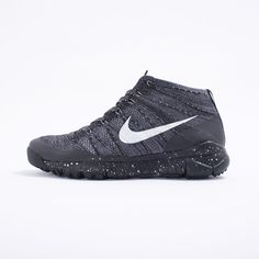 Nike Flyknit Trainer Chukka FSB - The rugged and ultra lightweight Nike Flyknit Trainer Chukka FSB. They feature a wool Flyknit upper with Flywire technology, speckled Phylon midsole and a rugged rubber outsole.