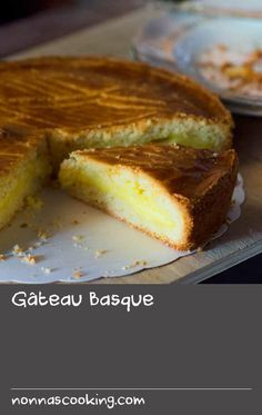 Gâteau Basque | A classic dessert from the Basque region of France, this recipe feature layers of cake that sandwich a rum-spiked creamy custard. It is also often made with jam or preserved fruit, and the cake with almond meal.