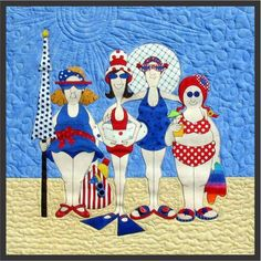 Amy Bradley Designs Bountiful Beauties PDF I like the quilting on this pattern Applique Quilt Patterns, Hand Applique, Applique Designs, Embroidery Patterns, Machine Embroidery, Quilting Projects, Quilting Designs, Anni Downs, Beach Quilt