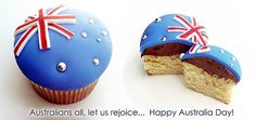 We wish everyone a safe and fabulous Australia Day! Vanilla Cupcakes with Chocolate Mousseline Buttercream, all edible decorations). Australian Party, Australian Food, Australia Day Celebrations, Happy Australia Day, Australia Cake, Aussie Food, Themed Cupcakes, Thinking Day, Cake