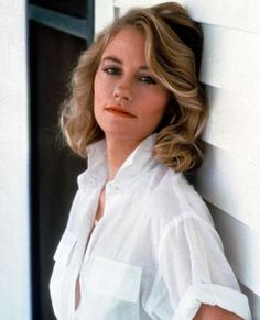 Memorable White Shirt Moments Through the Decades - Cybill Shepherd, 1985 from #InStyle