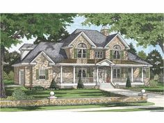 Traditional House Plan with 2907 Square Feet and 5 Bedrooms from Dream Home Source | House Plan Code DHSW67448