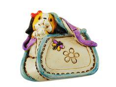Magneti con canini in borsetta in resina decorata