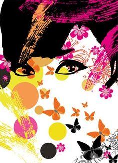 Floral Girl - fototapeta | Sklep ePlakaty.pl