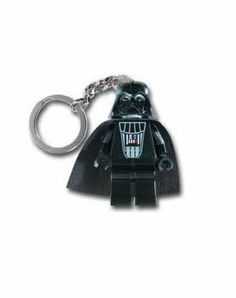 Lego Star Wars Darth Vader Light Key Chain by Play Visions. $13.95. Batteries included. 2 white led lights. Posable arms and light angling legs. Mini key light size. From the Manufacturer                What is thy bidding, my master? The Darth Vader Key Light takes on the galaxy. The Darth Vader Key Light is the same size and has the same functions as the successful Lego Led Key Lights. Press the button on the chest to turn on the exclusive lights in his feet.                   ...