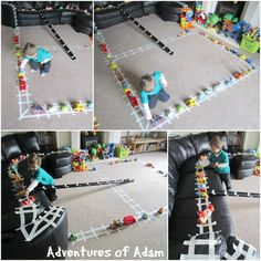 The Polar Express Masking Tape Train Track from Adventures of Adam