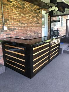 Pallet Bar Related posts: Pallet bar furniture for barbecue area outdoor kitchen bar made with recycled wo… Amazing Herringbone Pallet Party Bar ideas for backyard bar shed decks 80 Incredible DIY Outdoor Bar Ideas