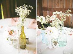 Centre de table fleurs des champs