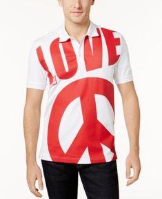 LOVE MOSCHINO MEN'S GRAPHIC-PRINT POLO. #lovemoschino #cloth #