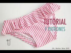 DIY Como hacer bañador de lycra en 7 minutos (patrones gratis) - YouTube