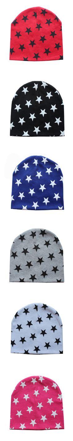 1PC Kids children Winter Warm Crochet Knit Hat Fashion Star Print Beanie Cap Girls Boys Accessories Wholesale
