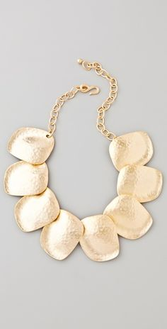 Kenneth Jay Lane Hammered Flat Disc Necklace | SHOPBOP
