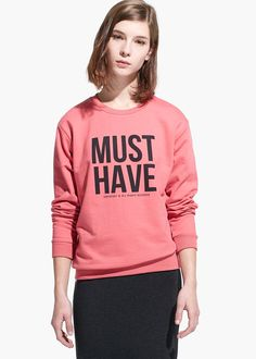 Message cotton-blend sweatshirt