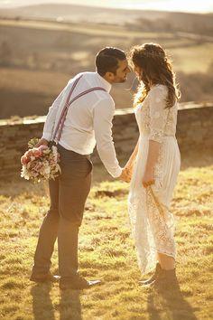 Ein zauberhaftes Paar, dass sich zur #Hochzeit perfektes Licht gewählt hat. Ein Moment für die Ewigkeit!