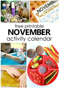 November Preschool Activities and Fun Things to Do With Kids - Fantastic Fun & Learning