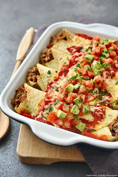Enchiladas au boeuf - The Best For Dinner Chicken Recipes Mexican Soup Recipes, Mexican Dishes, Snack Recipes, Cooking Recipes, Mexican Pizza, Beef Enchiladas, Enchiladas Healthy, Enchilada Recipes, Cheat Meal