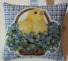 Easter Chicks Gift / Easter Chicks Fabric Lavender Bag / Easter Gift - Handmade