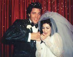 Net Image: Priscilla Presley and Elvis Presley: Photo ID: . Picture of Priscilla Presley and Elvis Presley - Latest Priscilla Presley and Elvis Presley Photo. Lisa Marie Presley, Priscilla Presley Wedding, Elvis Presley Priscilla, Elvis Presley Family, Celebrity Wedding Photos, Celebrity Weddings, Before Wedding, Wedding Day, Wedding Venues