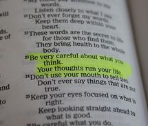 Your thoughts run your life.