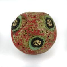 Roman - Byzantine Era Applied Mosaic Face Bead 19mm