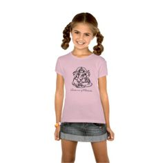 LITTLE GIRLS FITTED BABY DOLL GANESH YOGA SHIRT. Sweet now she can match yoga  moms shirt too! www.zazzle.com/ara_artist store. Fitted baby doll shirt, very fashion conscious for school and play and of course yoga with Mom.