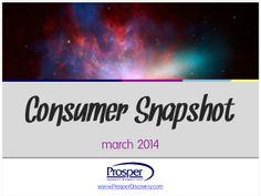 Consumer Snapshot - March 2014 by Prosper Business Development via slideshare