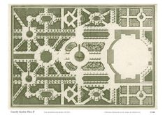 Courtly Garden Plan II - Art Print