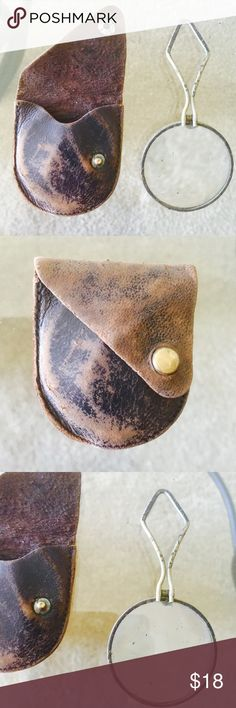 ❗️Vintage Leather Case & Magnifying Glass ❗️LAST CHANCE❗️Vintage Leather Case & Magnifying Glass! Make an offer! Selling to first reasonable offer i receive! Or enjoy 30% off bundles! Take advantage of my CLOSET CLOSING SALE! Items selling quickly! Asap shipping :-) Accessories
