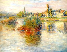Claude MONET (Paris 1840 - Giverny 1926) La Seine à Lavacourt, 1879