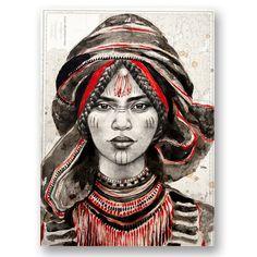 Browse all products in the Tirages papier d'art - Paper Art Prints category from Stephanie Ledoux. Arte Tribal, Tribal Art, Art Des Gens, Berber Tattoo, Pop Art, L'art Du Portrait, Ledoux, Art Premier, Arte Pop