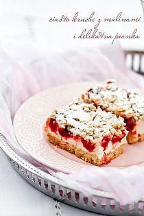 Kruche ciasto z malinami i lekką budyniową pianką Polish Desserts, Polish Recipes, Just Desserts, Delicious Desserts, Yummy Food, Sweet Recipes, Cake Recipes, Dessert Recipes, German Baking