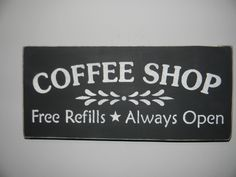 free primitive images to paint on wood | KITCHEN, Coffee Shop Primitive Hand Painted Wood Sign, Kitchen, Home ...