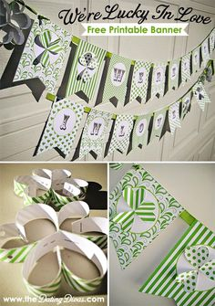 This is the cutest and easiest DIY banner ever! I am hanging this from my mantel the whole month of March! Great way to celebrate St. Patrick's Day! www.TheDatingDivas.com